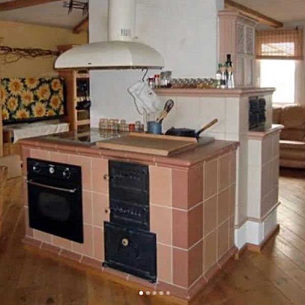 Küchenherd Kacheln Busse-Kamine strasburg