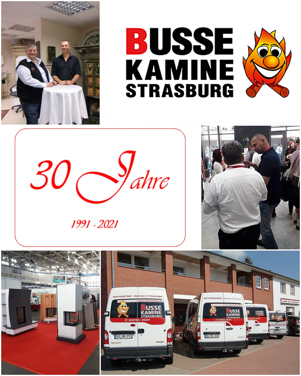 Busse Kamine Strasburg 30 Jahre Jubiläum Familienbetrieb Ofenbau Kaminbau